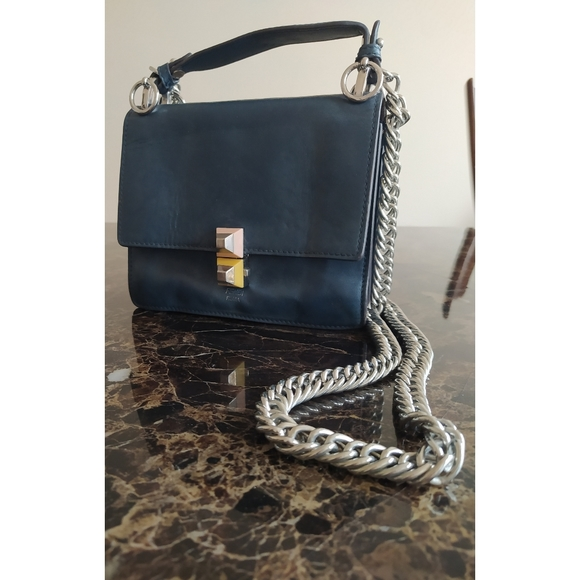 Fendi Calfskin Kan I Shoulder Bag